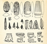 Neolithic flint implements and pottery (Vilnius, Lithuania) poster