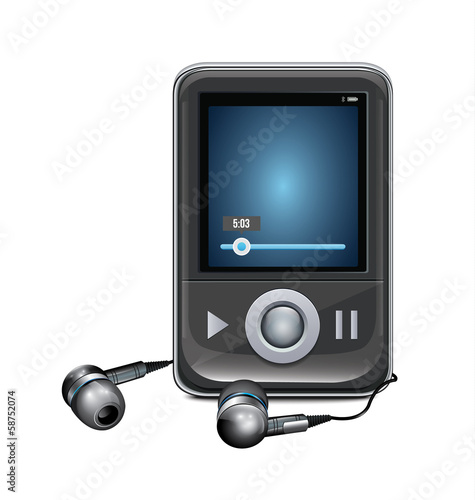 Mp3 Player With Mini Headphones