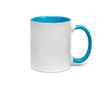 White empty cup with colored bottom isolated - 58752272