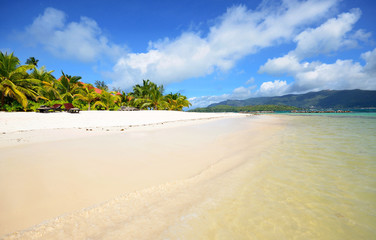 Tropical beach.Paradise island nature, Seychelles