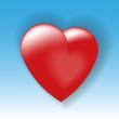 объемное сердце на синем фоне