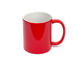 red cup on a white background