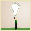Businessman and Idea