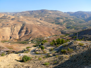 Jordan. Landscape of nature.