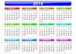 vector calendar 2014 sunday firts