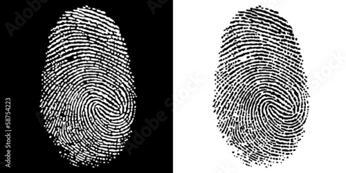 FINGERPRINT BLACK WHITE