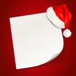 Karte mit Weihnachtsmütze