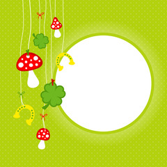Fly Agarics, Horseshoes & Cloverleafs Green Dots