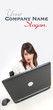 Openmouthed woman looking at laptop