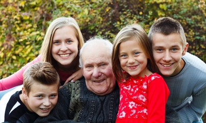 Family visit, joyful moment