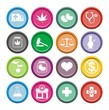 medical marijuana icons - round icons