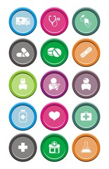medical round icon sets