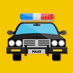 Vector Police Car Icon