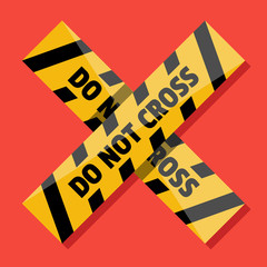 Vector Police Line Do Not Cross Icon