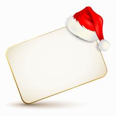 Gutscheinkarte mit Weihnachtsmütze