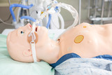 Endotracheal Tube Attached To Dummy