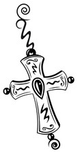 Croix, foi, symbole, religion, remorque