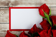 Obrazy na płótnie, fototapety, zdjęcia, fotoobrazy drukowane : card with roses