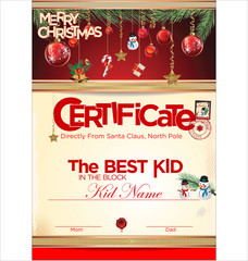 Certificate template, the best kid