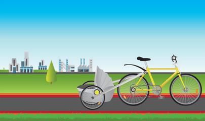 bike and city