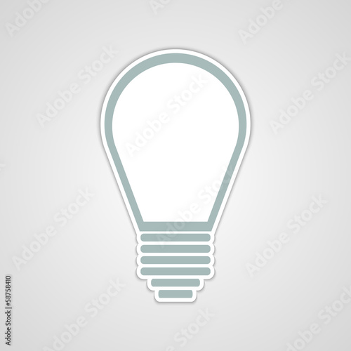 Vector light bulb sticker