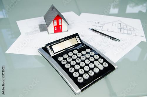 Taschenrechner Hausmodell und Pläne