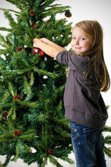 Decorare l'albero di Natale
