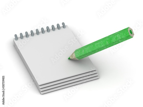 3D Pencil writing in notepad