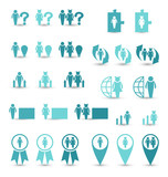 Set business icons, management and human resources