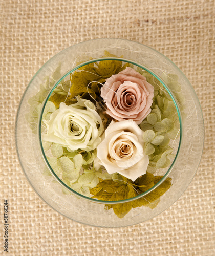 Rose flowers arrangement
