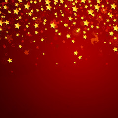 Vector Christmas Background with Stars