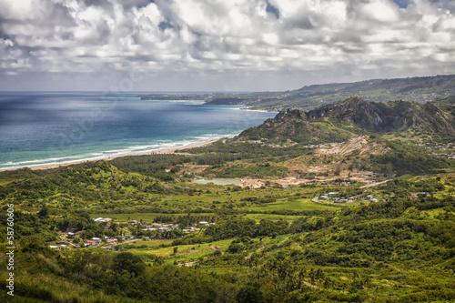Deurstickers Centraal-Amerika Landen Barbados Shoreline, Barbados