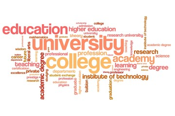 University education - word cloud
