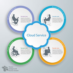 Infographics Background Cloud Service #Vector
