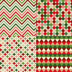seamless christmas colors geometric pattern