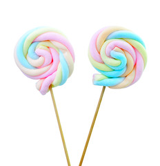 marshmallow lollipop