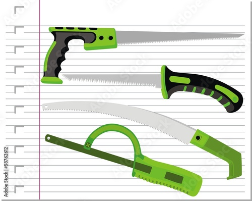 Garden hacksaw isolated