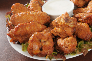 Chicken wings closeup