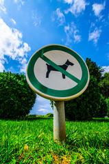 Hunde sind hier verboten