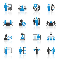 Business management and human resource icons