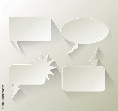 Abstract design speech bubble copyspace eps 10