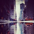 Lexington Avenue Puddle Upside Down