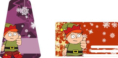 xmas gnome kid sticker card0
