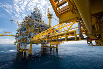 Oil and gas platform in offshore ,in the sea