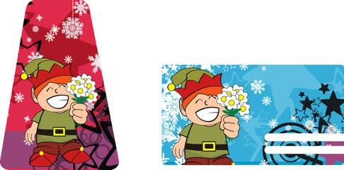 xmas gnome kid sticker card4