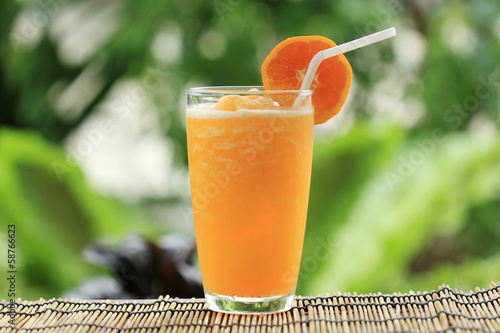 canvas print picture Orange Smoothie