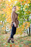 Full length shot of girl in autumn