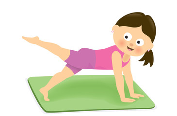 Girl exercising 2