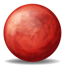 A red round ball