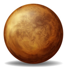 A brown ball
